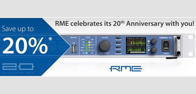 RME celebra su 20 aniversario con un Trade IN