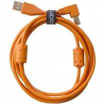 UDG Ultimate Audio Cable USB 2.0 A B Orange Angled 1m
