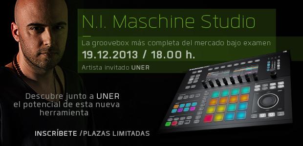 Uner presenta Maschine Studio en Cutoff