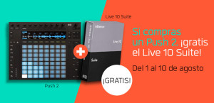 Compra Push 2 y llévate Live 10 Suite totalmente gratis
