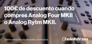 100€ de descuento al comprar Analog Four MK2 o Analog RYTM MK2