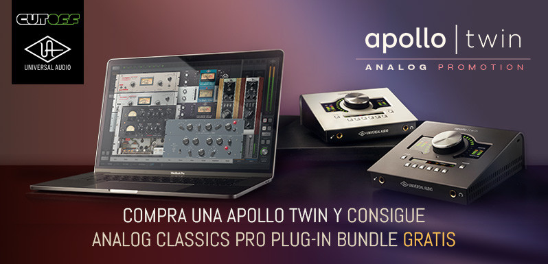 Apollo Twin con Analog Classics Pro Gratis