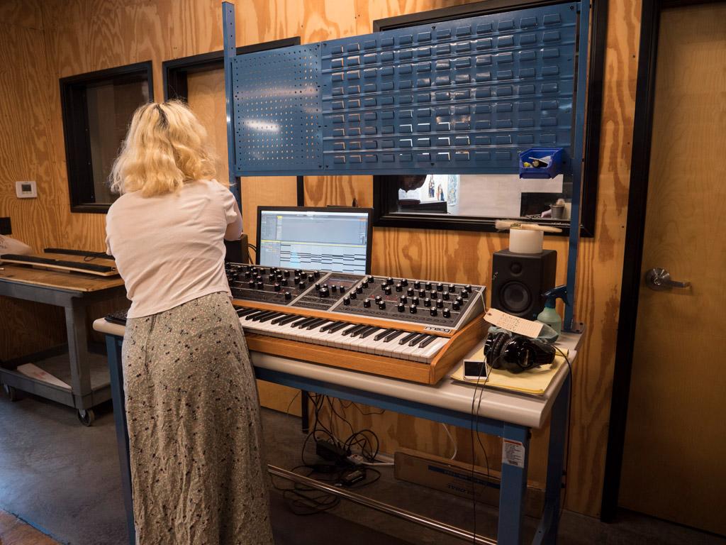 Comprobación del sintetizador Moog One