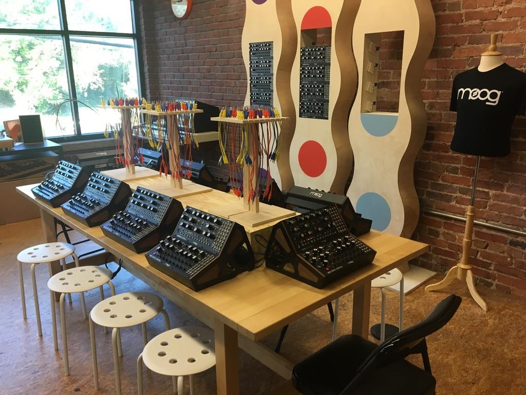 Recreación del expositor de Moog House Of Electronicus