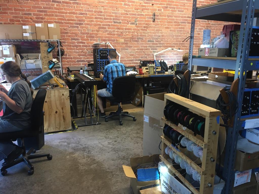 Sección de fábrica dedicada al montaje del modular Model 10