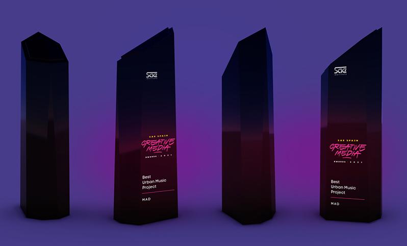 SAE SPAIN |CREATIVE MEDIA AWARDS 2021 (trophy)