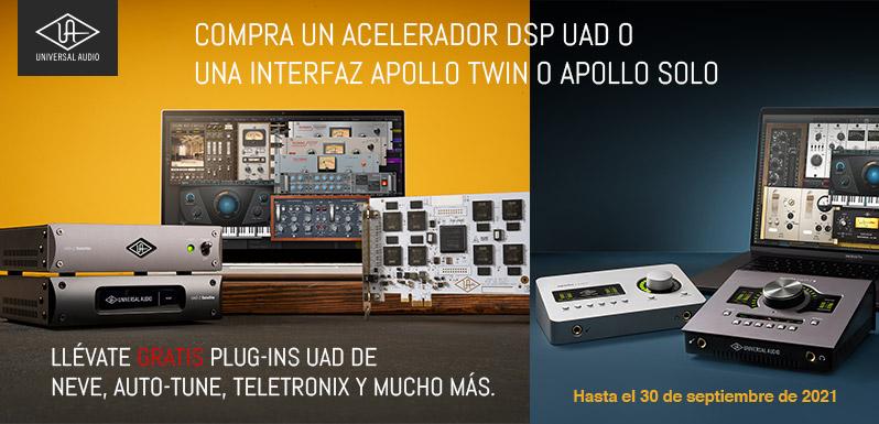 Promo UAD Satellite y Apollo Desktop de Universal Audio