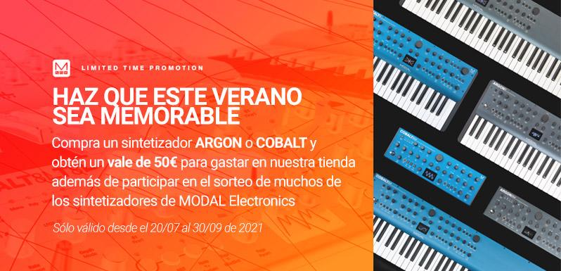 Promoción de Modal : Vale de 50 € al comprar Argon o Cobalt